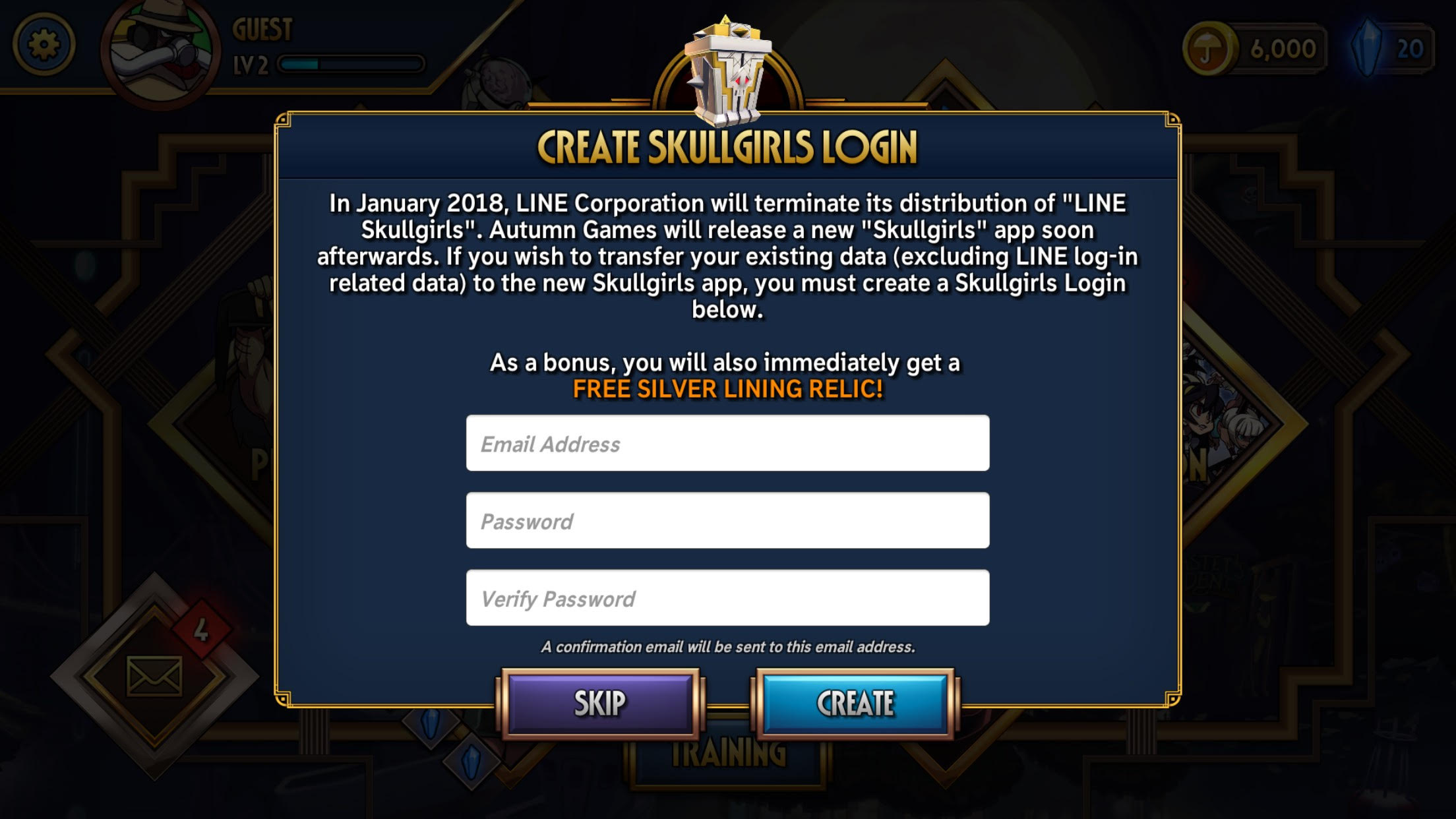 Skullgirls Mobile Data Loss Migration Warning « Skullgirls 2nd Encore